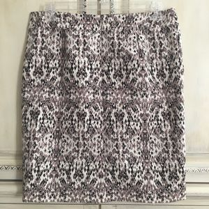 Merona Stretch SnakeSkin Animal Print Pencil Skirt
